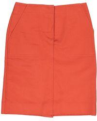 Louis Vuitton Jupe en Coton Orange