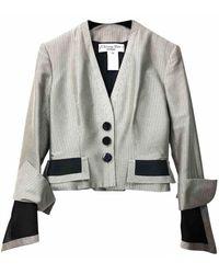 Dior Vest en Soie Beige - Multicolore