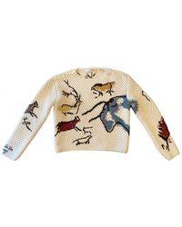 Dior Ecru Cotton Knitwear - Multicolor