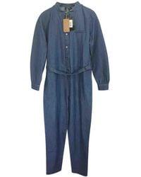 A.P.C. - Pre-owned Blue Cotton Jumpsuits - Lyst