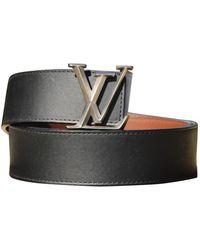 Louis Vuitton Initiales Leather Belt - Black