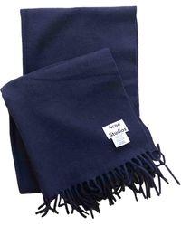 Acne Studios Wool Scarf - Blue