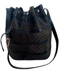 Celine Cloth Handbag - Black