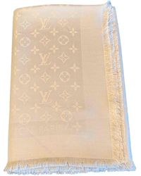 Louis Vuitton Foulards Châle Monogram en Soie Rose - Multicolore