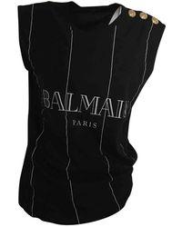 Balmain Combinaisons en Coton Noir