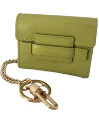 Delvaux Patent Leather Card Wallet - Green