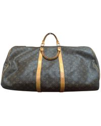 Louis Vuitton Pre-owned Cloth Travel Bag in Green for Men - Lyst 5b5266ecc56ee