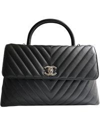 Chanel Borsa a mano in pelle nero Coco Handle