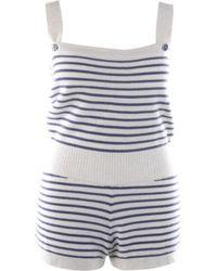 Chanel White Cashmere Jumpsuits
