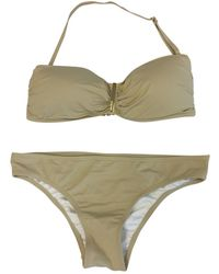 Michael Kors Beige Synthetic Swimwear - Natural