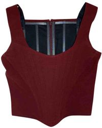 Vivienne Westwood Wolle Bustier - Rot