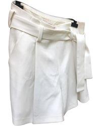 Maje White Cotton - Elasthane Shorts