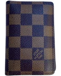 Louis Vuitton Piccola pelletteria in tela marrone Passport cover