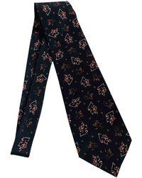 Dior Cravates en Soie Gris