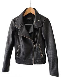 Mackage Leather Biker Jacket - Black