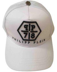 Philipp Plein Sombrero. Gorros en algodón blanco