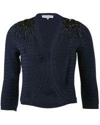 Carolina Herrera Navy Wool Knitwear - Blue