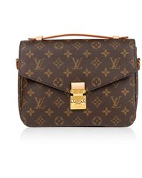 Louis Vuitton Bolsa de mano en lona marrón Metis
