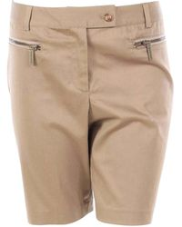 Michael Kors Beige Cotton - Elasthane Shorts - Natural