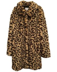 Claudie Pierlot Faux Fur Coat - Brown