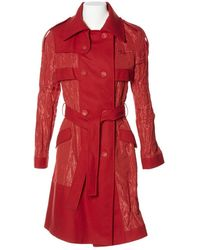 Dior Trenchs en Polyester Rouge
