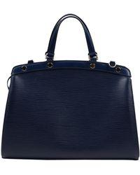 Louis Vuitton Bolsa de mano en cuero azul Bréa
