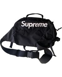 Supreme Black Synthetic Small Bag Wallets & Cases