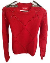 Zadig & Voltaire Maglione. Gilet in lana rosso