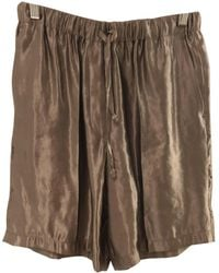 Dries Van Noten - Pre-owned Metallic Synthetic Shorts - Lyst
