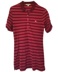 Burberry Burgundy Cotton Top - Red