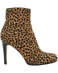 Gianvito Rossi - Pony-style Calfskin Ankle Boots - Lyst