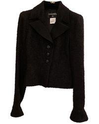 Chanel Vest en Laine Noir