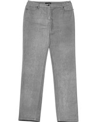 Chanel - Pre-owned Grey Cotton - Elasthane Jeans - Lyst