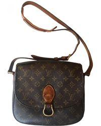 06e88433adc98 Louis Vuitton - Vintage Saint Cloud Vintage Brown Cloth Handbag - Lyst