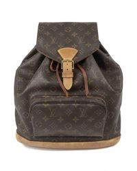 Louis Vuitton Montsouris Brown Cloth Backpack