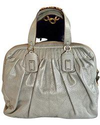 Roberto Cavalli Leather Handbag - Gray