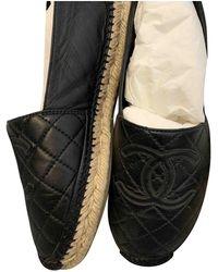 Chanel Espadrillas in pelle nero
