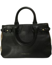 Burberry Bolso The Banner de Cuero - Negro