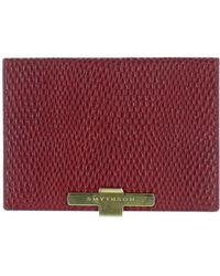 Smythson Leather Wallet - Red