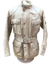 Belstaff Leather Jacket - White