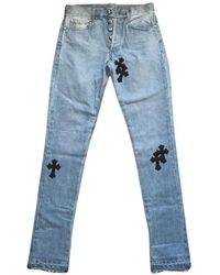 Chrome Hearts Gerade jeans - Blau