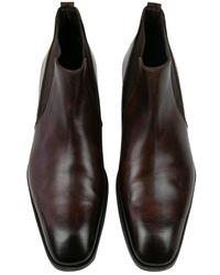 Tom Ford Botas. Botines en cuero marrón