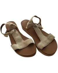 Ancient Greek Sandals Leather Sandals - White