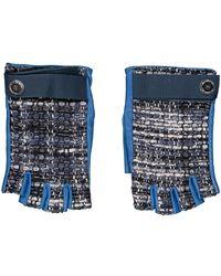 Chanel Mitones de Cuero - Azul