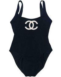 Chanel One-piece Swimsuit - Black
