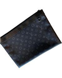 Louis Vuitton Sac Discovery en Toile Anthracite - Bleu