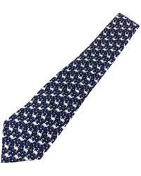 Ferragamo - Navy Silk Ties - Lyst
