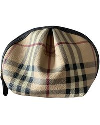 Burberry Cloth Vanity Case - Natural