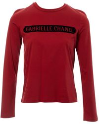 Chanel Burgundy Cotton Top - Red