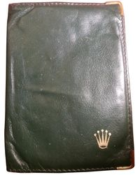 Rolex Leather Wallet - Green